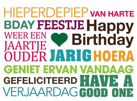 Populair Verjaardag teksten om iemand te feliciteren. TEKST.NL &EL71
