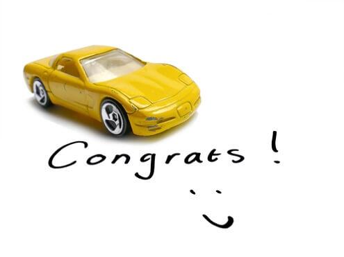 Felicitatie rijbewijs