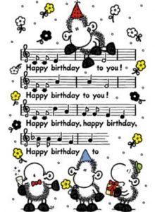 Bladmuziek happy birthday