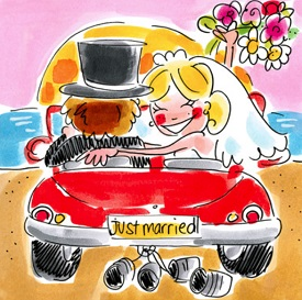 Just married kaart